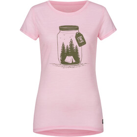 super.natural Printed Tee Women fairy tale melange/millitarycamping jar